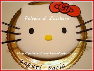 Polvere di Zucchero: cake design e sugar art. Corsi decorazione torte,biscotti,cupcakes e fiori: La torta per il mio compleanno: la faccia di Hello kitty!! :)