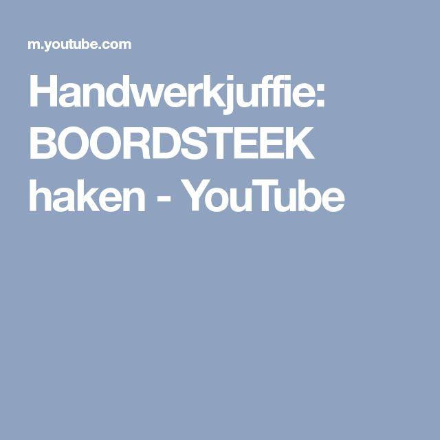 Handwerkjuffie: BOORDSTEEK haken - YouTube