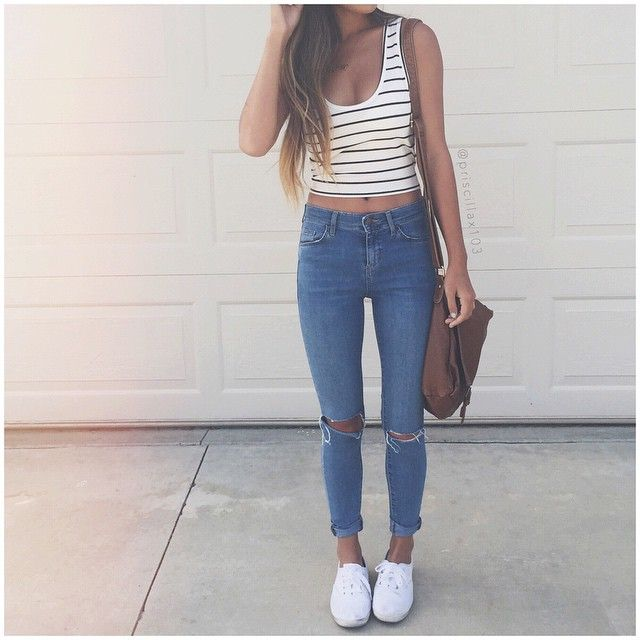 1000 ideas about ripped jeans outfit on pinterest jean