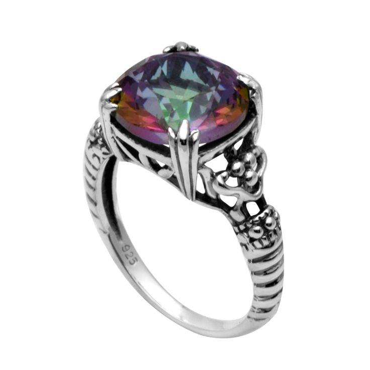 Во всем мире моды ювелирные изделия стерлингового серебра 925 кольца для женщин/границы цветы антикварные ювелирные изделия высокого качества топаз обручальные кольца