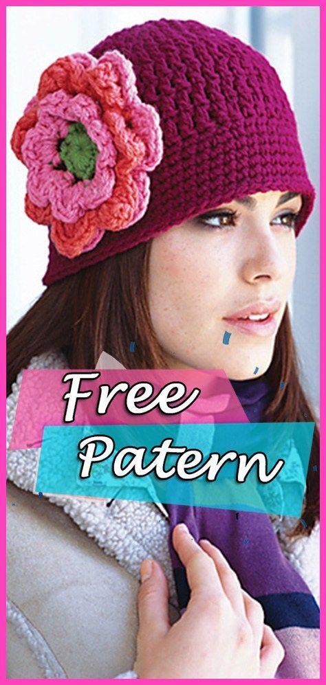 1a9db76ec88 Floral Cloche Hat Crochet Free Pattern – Fashion DIY  crochet  freepattern   crochetpattern  crocheting