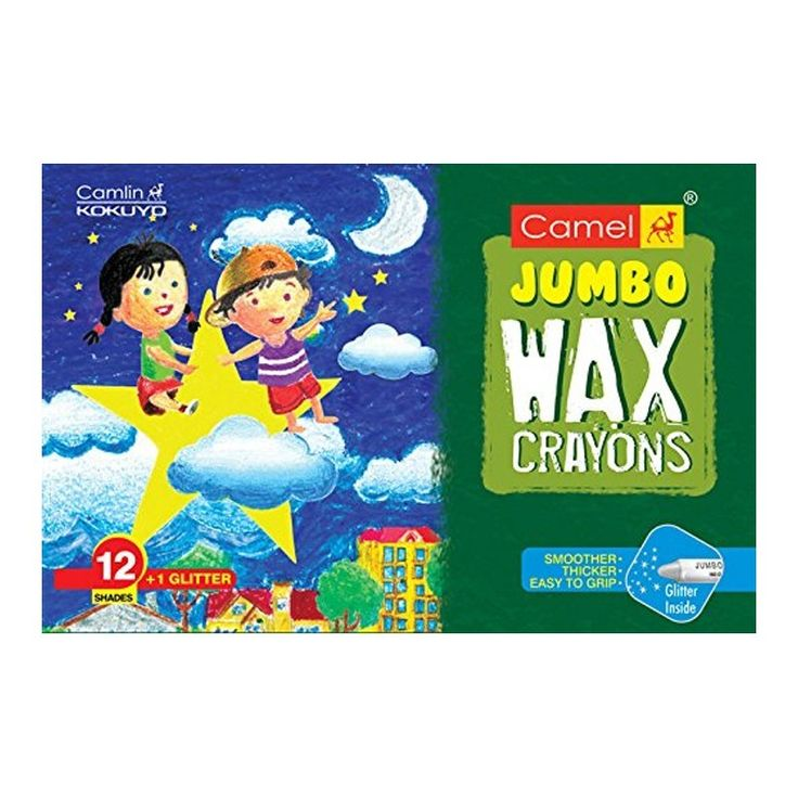 Buy #Camlin #Wax #Crayons (#Free #GlitterShade) - 12 #Shades (#Pack of 2) at Best Price in India for Rs.97/-