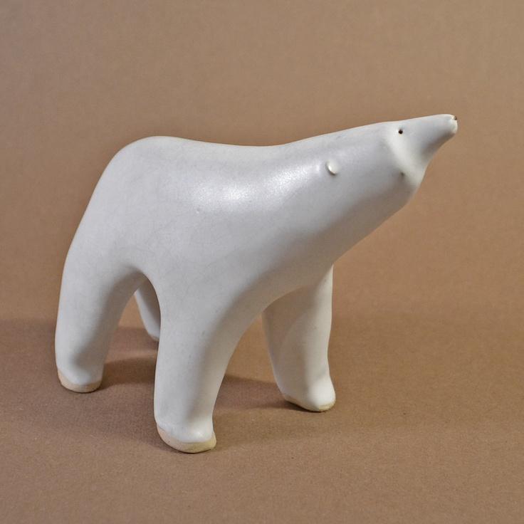 Simple and Modern Polar Bear Figure. $65.00, via Etsy.