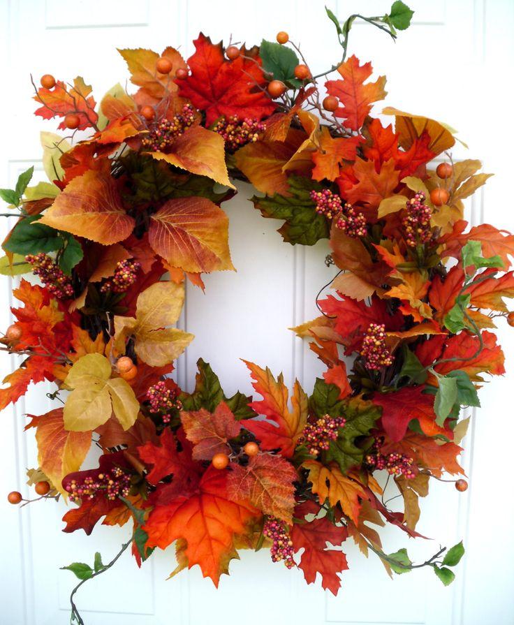 Fall Wreath Autumn Wreath Harvest Wreath by SweetIvyWreaths, $65.00