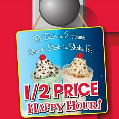 AND they have happy hour from pm when the drinks and SHAKES are half price! We will definitely be going back for that! Other locations offer the happy hour from am, as well/ Yelp reviews.