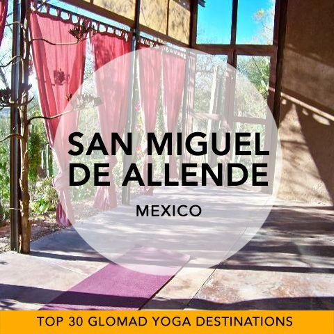 Glomad's 'Top 30 Global Yoga Destinations' No.27 – San Miguel de Allende, Mexico  Hugely popular amongst the Yogi-nomads of the world, Me-hi-co is a well-stomped Experience destination... and the perfect escape in winter for iced-up Northern Americanos. San Miguel de Allende, in the mountains of Central Mexcio is a World Heritage site full of rather nice architecture and beyond the walls, superb mountain hikes. Did somebody say post-Yoga hot springs? #Mexico #yogatravel #glomad