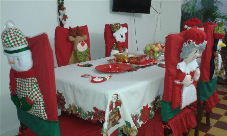 sillas vestidas para navidad