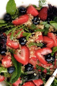 Blueberries, Quinoa salad and Watermelon on Pinterest