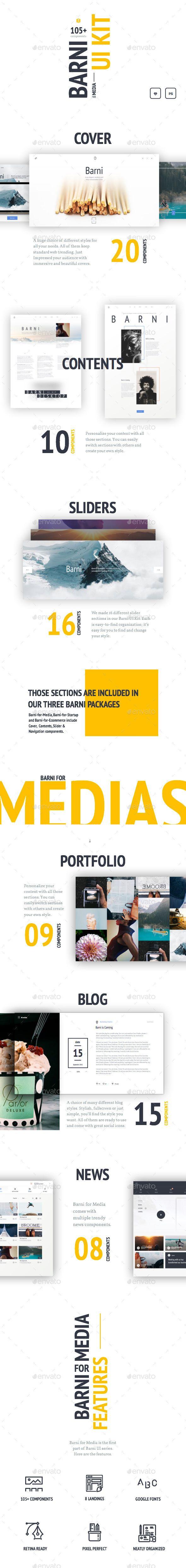 Barni for Media UI Kit