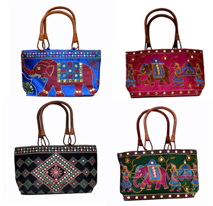 10 Traditional Ethnic Embroidered Ladies Wood Wooden Top Handle Wholesale Bags #Handmade #ShoulderBag