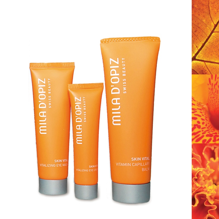 Mila d'Opiz Australia - Skin Vital Vitamin Capillary Balm, Vitalizing Eye Mask & Vitalizing Eye Cream. Soothes, calms & relaxes for a refreshed appearance.