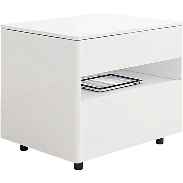 Adams White Gloss Bedside Table