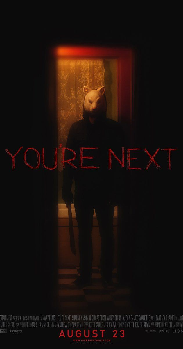 You're Next (2011) - I actually enjoyed this even though I'm not much into gory movies and it was kind of predictable.  She did not want to marry into that family anyway.
