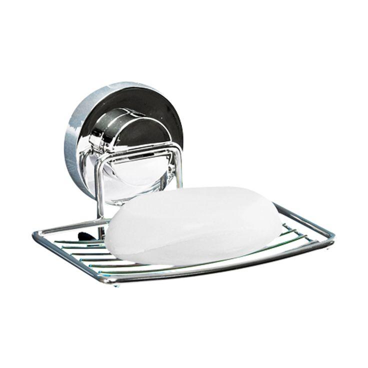 [DeHUB Suction-Silver] Soap Rack Ultra Gel Pad Shelf for Bath & Kitchen Decor