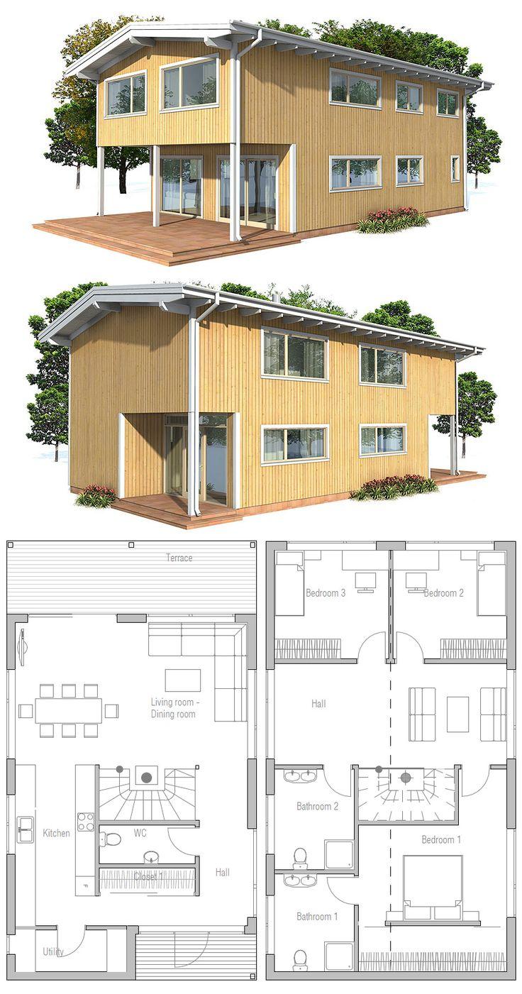 1000 id es sur le th me plans de maison bungalow sur for Plan maison sketchup