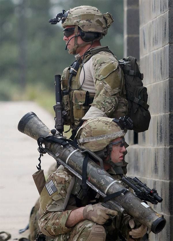 U.S. Army Rangers during a MOUT exercise.
