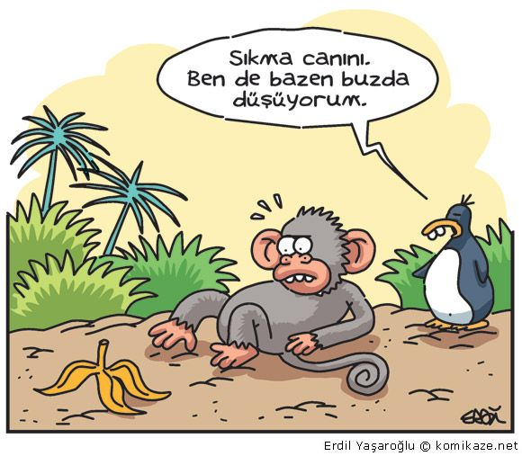 Dikkat Kaygan Zemin karikatür