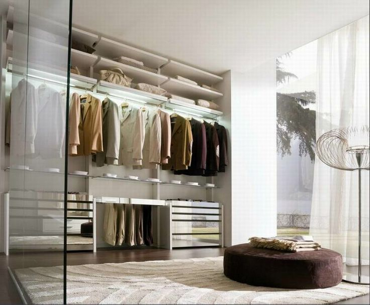 LA FALEGNAMI - Walk in closet - Minimal white lacquered drawers with smooth