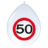 Luftballons Verkehrsschild 50