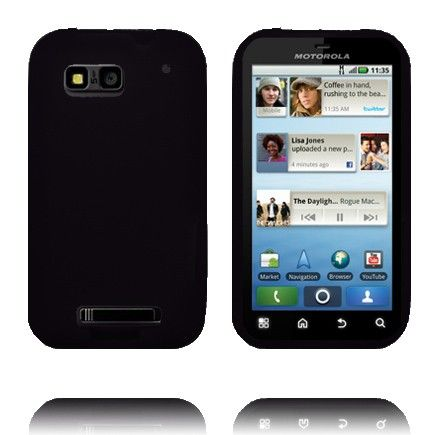 Soft Shell - New Cut (Musta) Motorola Defy Silikonisuojus