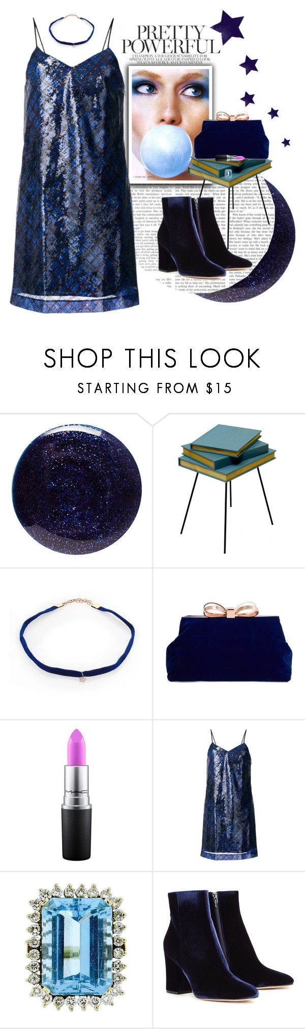 """""""Starry Autumn Dance Dress"""" by taste-for-life ❤ liked on Polyvore featuring Lauren B. Beauty, Valsecchi 1918, Kismet by Milka, Ted Baker, MAC Cosmetics, Hilfiger Collection, Gianvito Rossi, contest and generalgroups"""