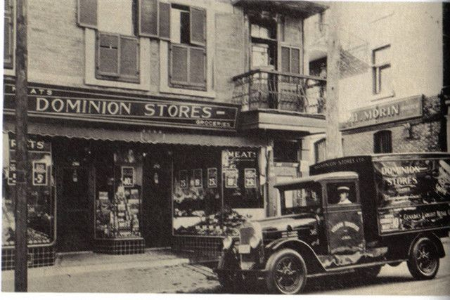 A Dominion grocery store in Montreal, Quebec, c. 1930.