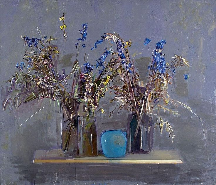 Ofer Lellouche b. 1947: Vase of FlowersOfer Lellouche b. 1947: Vase of Flowers, Oil on canvas, Signed, 120X140 cm