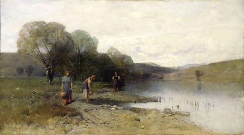 Mészöly, Géza Landscape with Water C. 1885