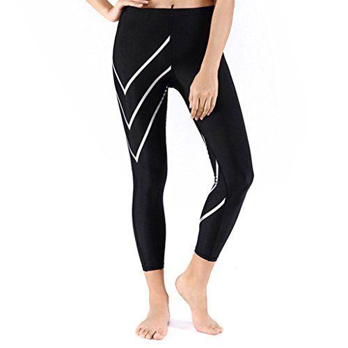 JIMMY DESIGN Damen Kompression Laufhose - Schwarz/Weiß Pfeil - L - http://on-line-kaufen.de/jimmy-design/38-40-taille-71-76cm-jimmy-design-damen-leggings-s-m-11