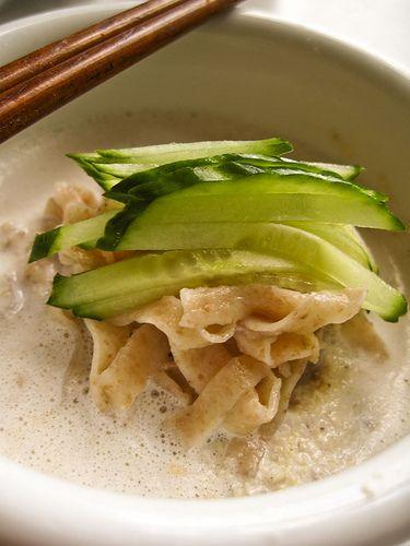 Soy milk noodle soup
