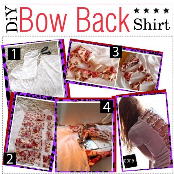 """DiY - Bow Back Shirt. (:"" by yourstruelyxoxo on Polyvore"