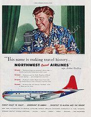 Northwest Orient Airlines, Arthur Godfrey