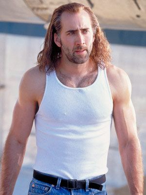 "OP: Con Air-this is the only movie that puts him in this category. (I'll add ""The Rock"" to that because Nic Cage is hot in it & bonus is super hot older Sean Connery!!!)"