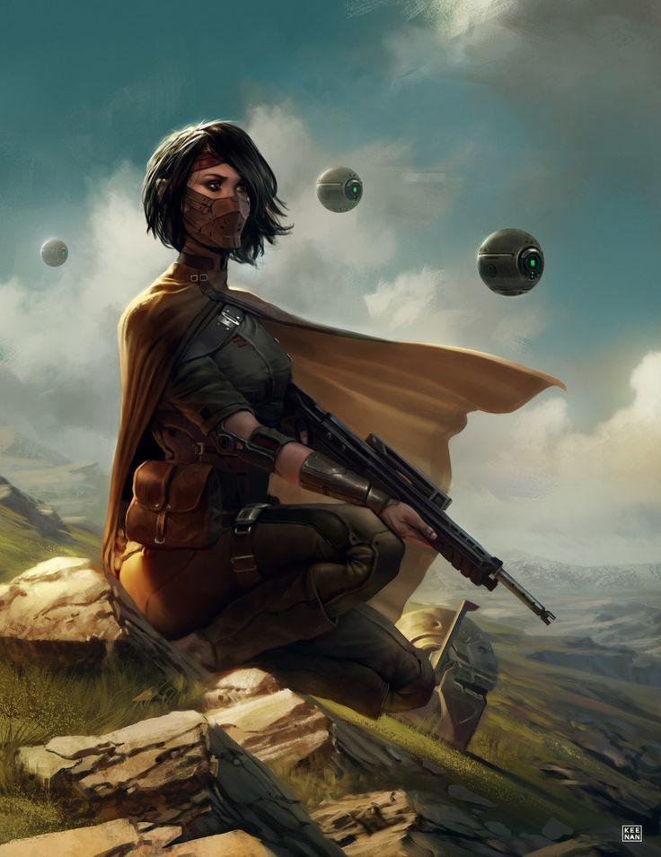Rogue Bounty Hunter, Dave Keenan on ArtStation at https://www.artstation.com/artwork/o8ZwW
