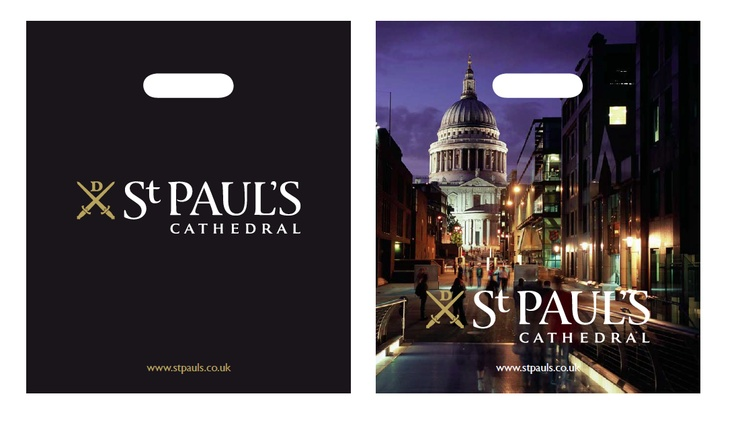 Carrier bag design for St Paul's Cathedral http://www.voyagedesign.co.uk