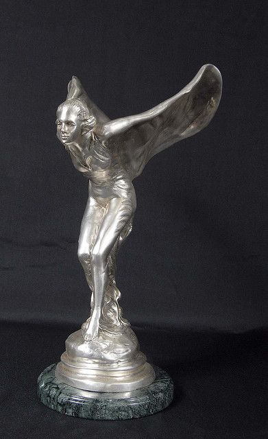 Art Deco Bronze Flying Lady, Rolls Royce Mascot by Charles Sykes - Spirit Ecstacy