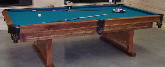Beautiful This Full Tournament Size Pool Table Is Constructed Of Mesquite And Pecan,  Leather Pockets, One Inu2026 | Pinteresu2026