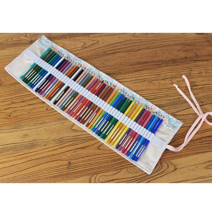 Taotree Stifterolle für 72 Buntstifte und Bleistifte, aus Canvas, Stifteetui Roll-up für Künstler, Mehrzwecktasche für Reisen / Schule / Büro / Kunst (Anmerkung: ohne Farbstifte) (Countryside): Amazon.de: Bürobedarf & Schreibwaren