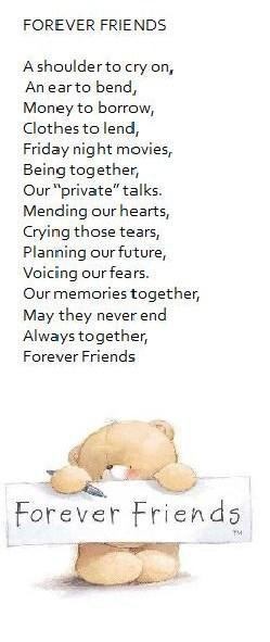 Forever Friends - poem for friendship