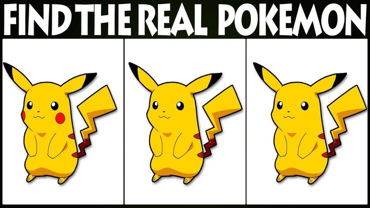 Find The Real Pokemon   Find The Difference   Pokemon Games   Pokemon Di...