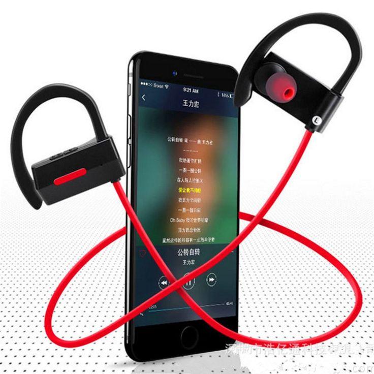 fashion bluetooth 4.1 sports ear hook earphone waterproof supra-aural earphone headphone with DSP technology and woice remind