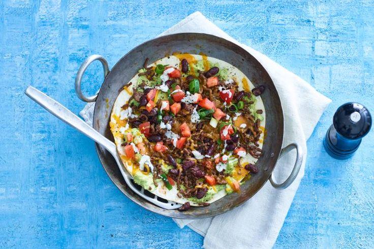 Vrijdag 5 mei - Yoghurt + tortilla's +komijnzaad in de bonus = de perfecte basis voor een easy panpizza.- Recept - Allerhande