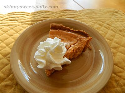 Skinny Sweets Daily: Not Too Sweet, Easy Sweet Potato Pie. A fraction of the fat and calories in an original Sweet Potato pie. This is so easy to make and oh so delish! Click pic for recipe.