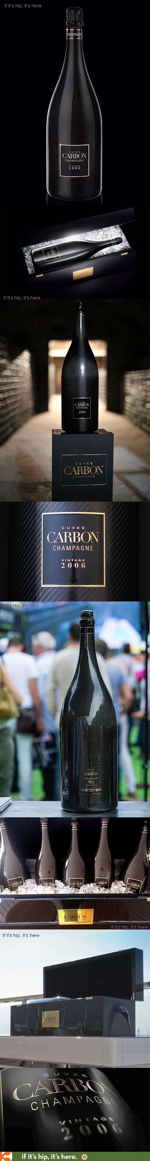 The House of Devavry's elegant and luxurious Carbon Cuvée Champagne is a bit of bubbly clad in a carbon fiber wrapped bottle for $3000 a pop.