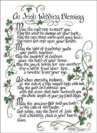An Irish Wedding Blessing