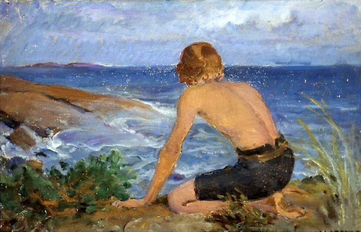 Venny Soldan-Brofelt, Boy on a Shore.