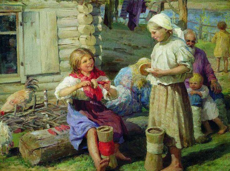 Сычков Федот Васильевич. У хаты