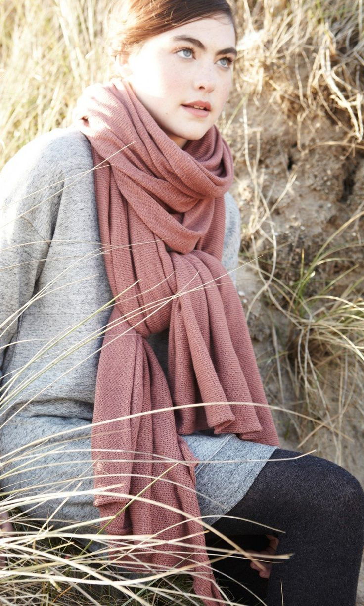 Oversized romy knit scarf pl mo ltd