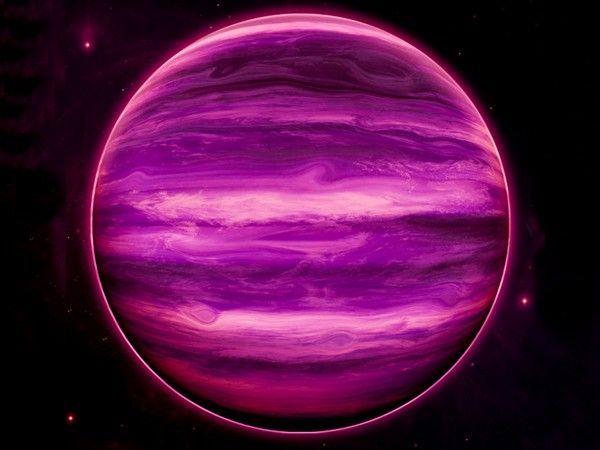 Des nuages d'eau ont été détectés à la surface de la naine brune WISE J0855-0714, distante de seulement de 7,3 années-lumière de nous. Illustration de cet astre d'une taille équivalente à Jupiter mais 10 fois plus massif. © Rob Gizis, Cuny BMCC