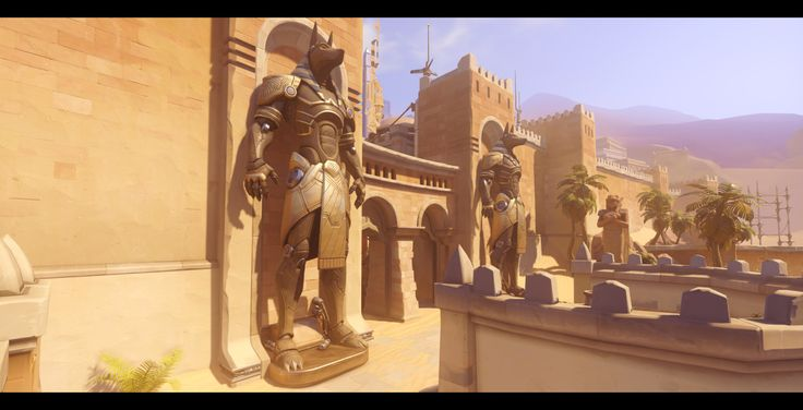 "Overwatch: Temple of Anubis - Hero props - by Renaud Galand ""I had the pleasure to work on a few of the key props for the level ""Temple of Anubis"" created for the game Overwatch (Ⓒ Blizzard..."